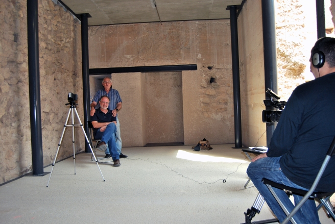 Làmina 2. Entrevista a Màriius Bevià i Garcia i José Luis Menénde Fueyo // Lámina 2. Entrevista a Màrius Bevià i Garcia y José Luis Menéndez Fueyo.